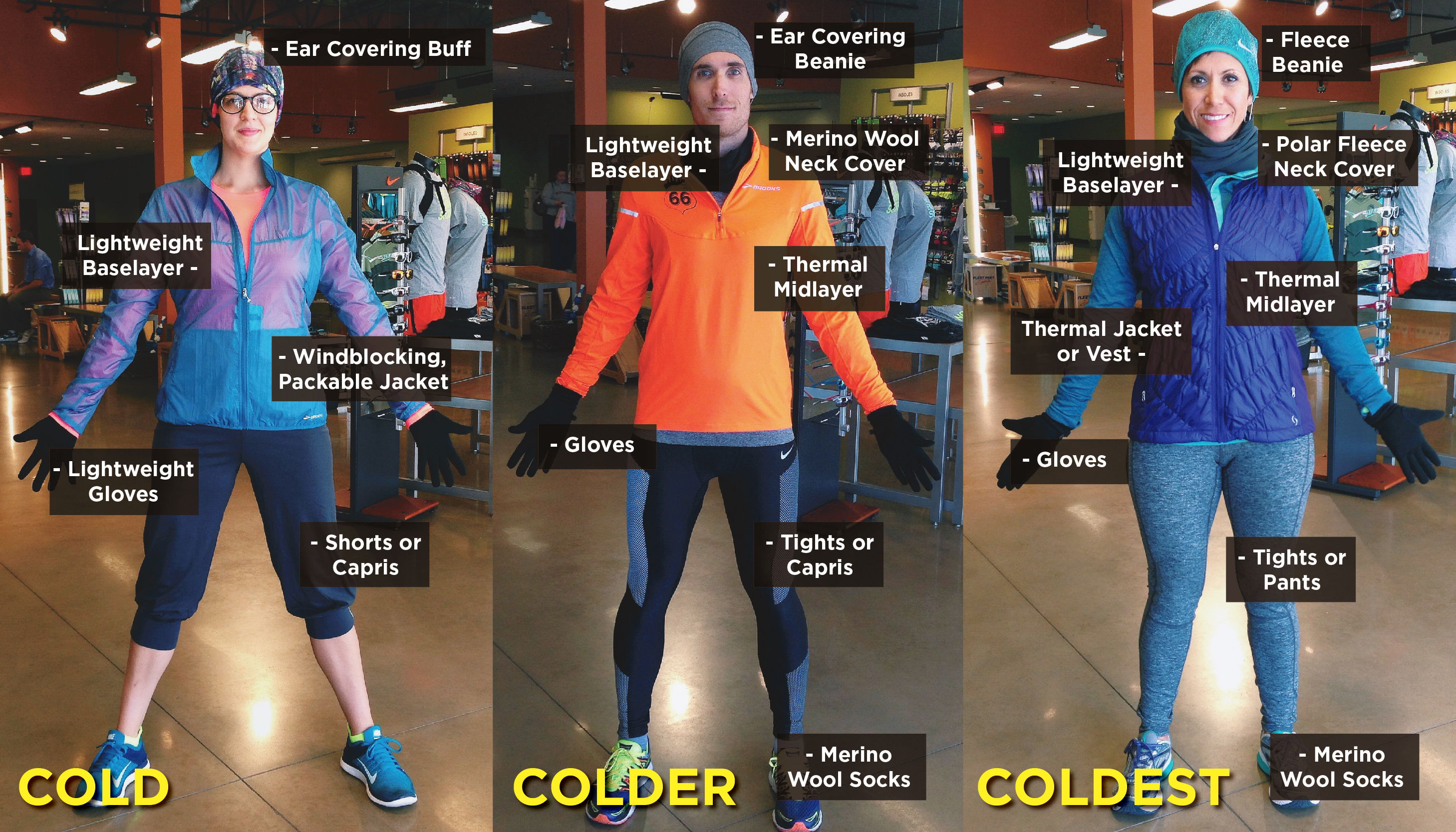 what to wear half marathon cold